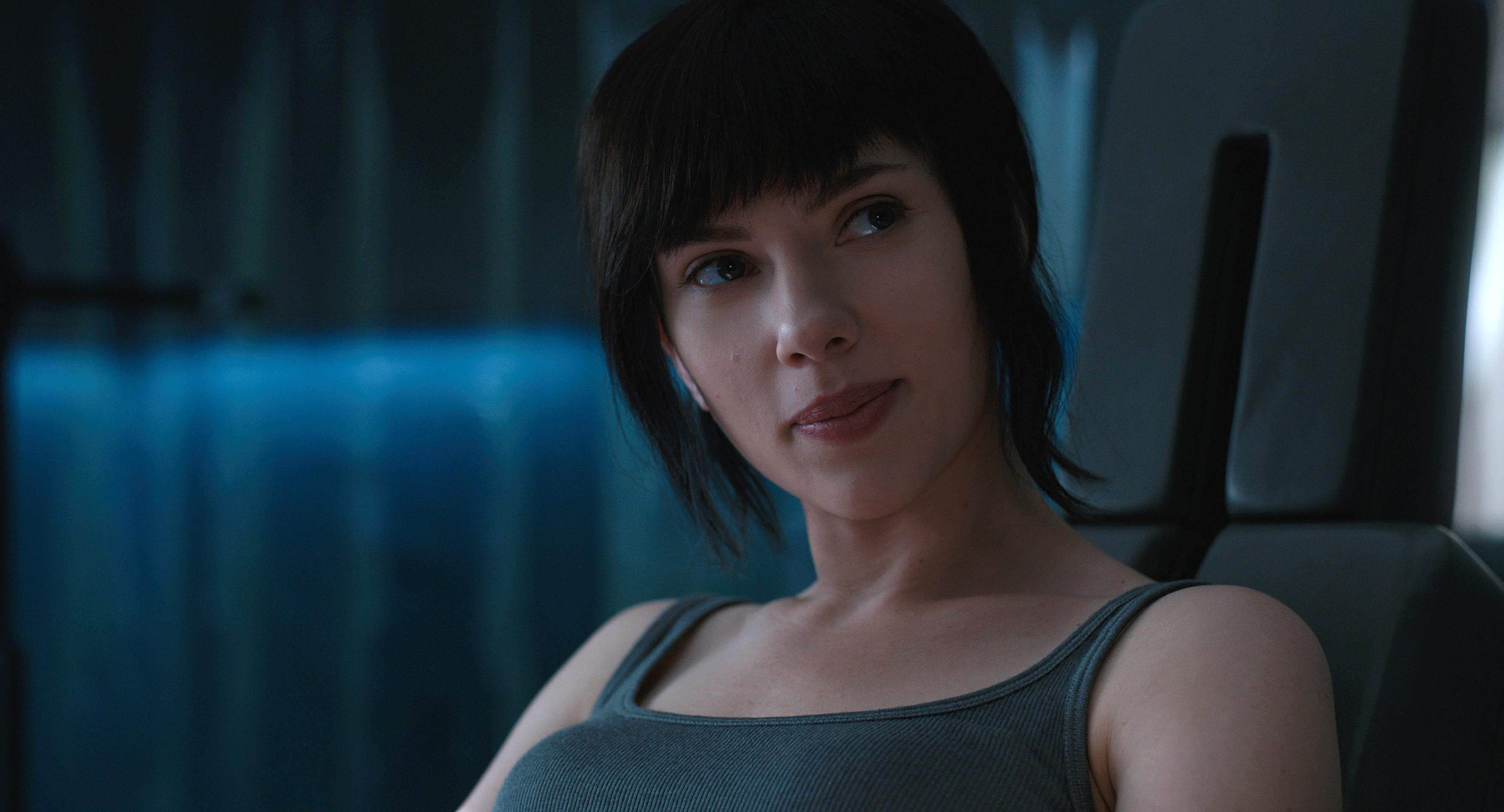 "fot. kadr z filmu ""Ghost in the Shell"""